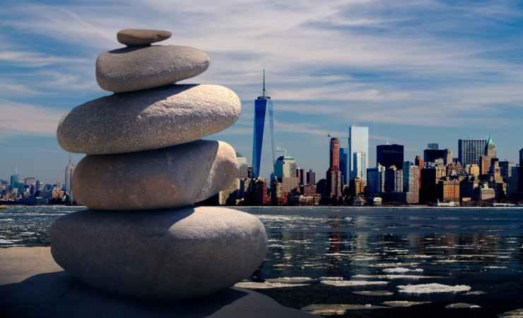 city cityscape meditation ocean